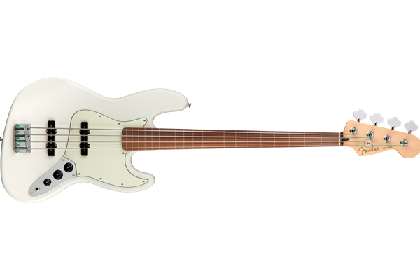 Player Jazz Bass Fretless, Pau Ferro Fingerboard, Polar White