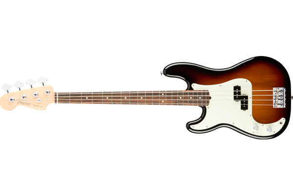 American Pro Precision Bass Left-Hand, Rosewood Fingerboard, 3-Color Sunburst