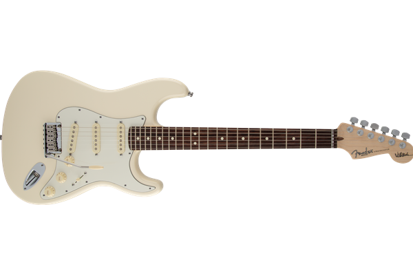 Jeff Beck Stratocaster, Rosewood Fingerboard, Olympic White