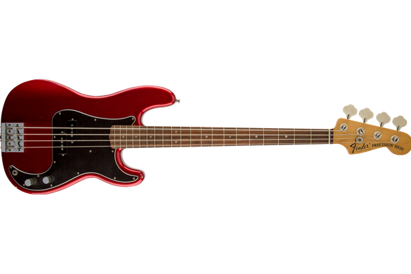 Nate Mendel P Bass, Rosewood Fingerboard, Candy Apple Red