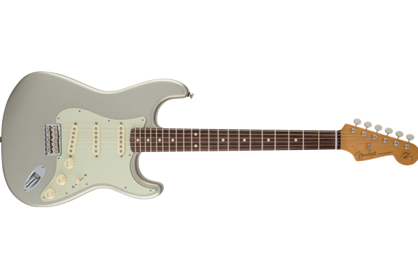 Robert Cray Stratocaster, Rosewood Fingerboard, Inca Silver