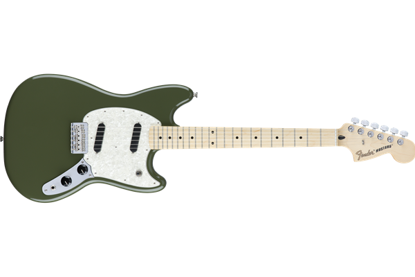Mustang, Maple Fingerboard, Olive