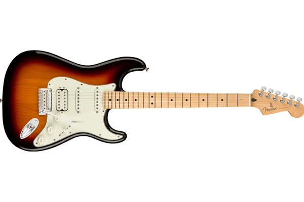 Player Stratocaster HSS, Maple Fingerboard, 3-Color Sunburst