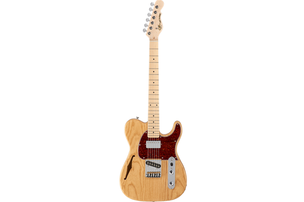 Tribute ASAT Classic Bluesboy Semi-hollow, natural ash with maple fb