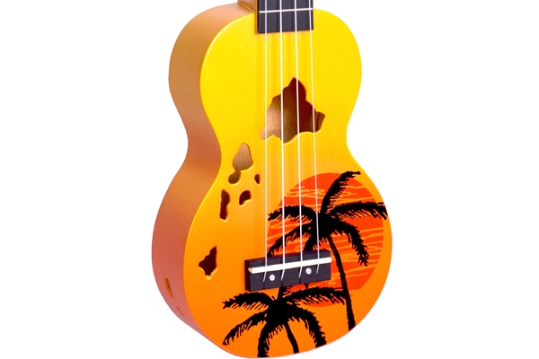 Mahalo Hawaii Uke - Orange Burst