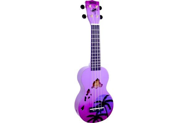 Mahalo Hawaii Uke - Purple Burst