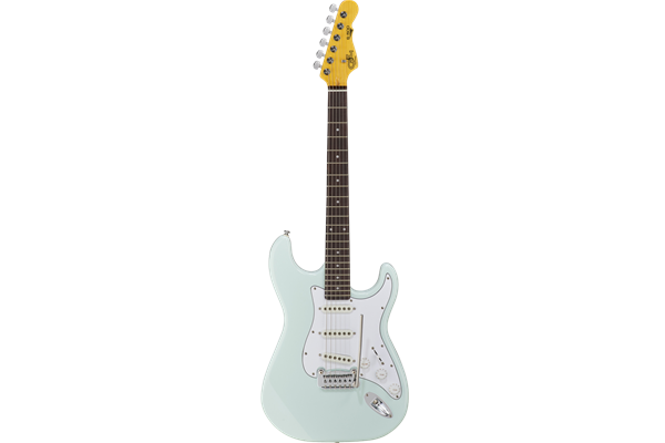 Tribute S500 - Sonic Blue, RW w tinted gloss neck, nato body, white pg