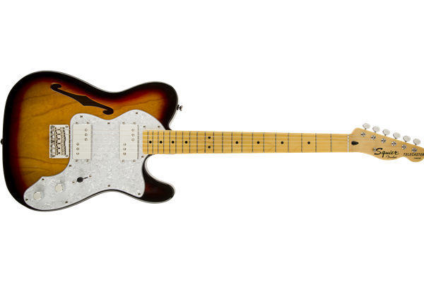 Vintage Modified '72 Telecaster Thinline, Maple Fingerboard, 3-Color Sunburst