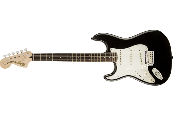 Standard Stratocaster Left-Handed, Laurel Fingerboard, Black Metallic